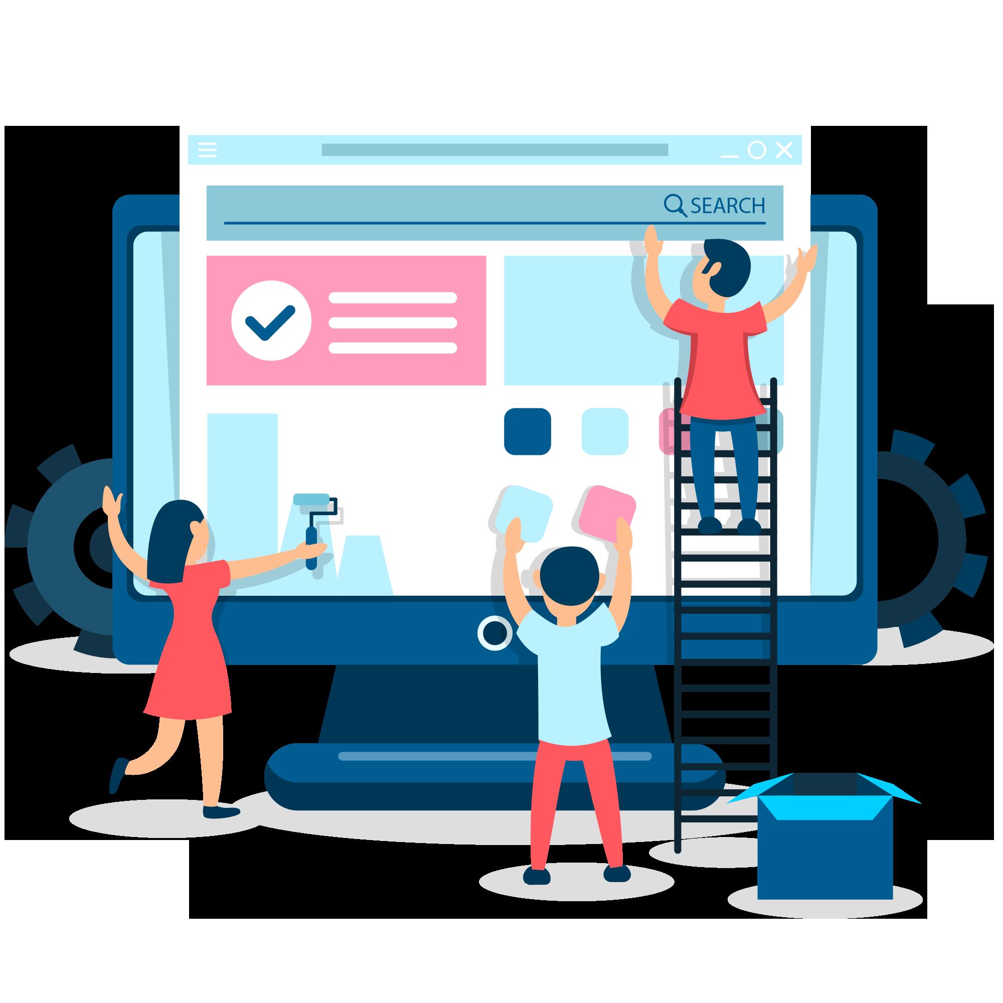 تصميم وتطوير تطبيقات الويب .